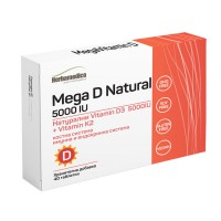 Мега D натурал / Mega D Natural 5000 IU - 40 табл.